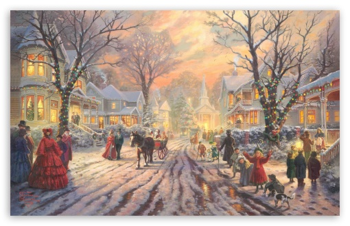 Victorian Christmas Carol by Thomas Kinkade HD wallpaper for Wide 16:10 5:3 Widescreen WHXGA WQXGA WUXGA WXGA WGA ; HD 16:9 High Definition WQHD QWXGA 1080p 900p 720p QHD nHD ; Standard 4:3 5:4 3:2 Fullscreen UXGA XGA SVGA QSXGA SXGA DVGA HVGA HQVGA devices ( Apple PowerBook G4 iPhone 4 3G 3GS iPod Touch ) ; Tablet 1:1 ; iPad 1/2/Mini ; Mobile 4:3 5:3 3:2 16:9 5:4 - UXGA XGA SVGA WGA DVGA HVGA HQVGA devices ( Apple PowerBook G4 iPhone 4 3G 3GS iPod Touch ) WQHD QWXGA 1080p 900p 720p QHD nHD QSXGA SXGA ; Dual 16:10 5:3 4:3 5:4 WHXGA WQXGA WUXGA WXGA WGA UXGA XGA SVGA QSXGA SXGA ;