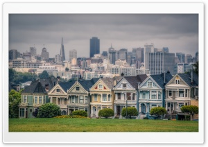 Victorian Houses In Alamo Square San Francisco California Usa HD Wide Wallpaper for 4K UHD Widescreen desktop & smartphone