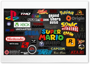 Video Games Logos Ultra HD Wallpaper for 4K UHD Widescreen desktop, tablet & smartphone