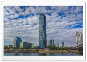 Vienna, Donaucity, DC Tower, UNO Center HD Wide Wallpaper for Widescreen