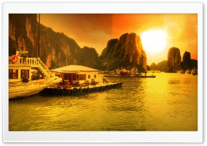 Vietnam, Ha Long Bay HD Wide Wallpaper for Widescreen