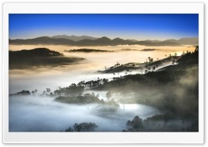 Vietnam Landscape, Forest, Dense Fog HD Wide Wallpaper for 4K UHD Widescreen desktop & smartphone