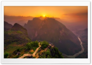 Vietnam Mountain Landscape HD Wide Wallpaper for Widescreen