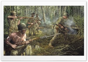 Vietnam War Painting HD Wide Wallpaper for Widescreen