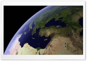 View Earth From Space HD Wide Wallpaper for Widescreen