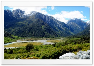 View from Creamy Creek- NZ south HD Wide Wallpaper for Widescreen