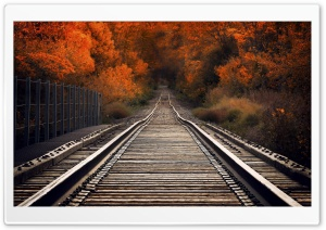 View From Railway Bridge Autumn HD Wide Wallpaper for 4K UHD Widescreen desktop & smartphone