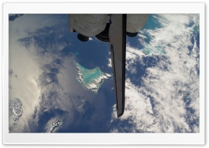 View From Space Of Bahamas Island HD Wide Wallpaper for Widescreen
