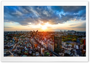 View from the Google Offices in Downtown Tokyo HD Wide Wallpaper for Widescreen
