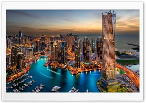 View of Dubai Marina HD Wide Wallpaper for Widescreen