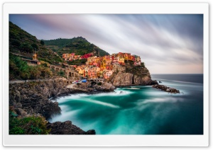 View of Manarola, Cinque Terre, Italy HD Wide Wallpaper for Widescreen