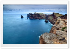 View Of Ocean From The Rock HD Wide Wallpaper for Widescreen