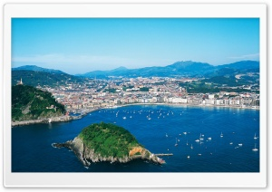 View of San Sebastián, Spain HD Wide Wallpaper for Widescreen