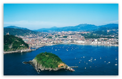 View of San Sebastián, Spain HD wallpaper for Wide 16:10 5:3 Widescreen WHXGA WQXGA WUXGA WXGA WGA ; HD 16:9 High Definition WQHD QWXGA 1080p 900p 720p QHD nHD ; Standard 4:3 5:4 3:2 Fullscreen UXGA XGA SVGA QSXGA SXGA DVGA HVGA HQVGA devices ( Apple PowerBook G4 iPhone 4 3G 3GS iPod Touch ) ; Tablet 1:1 ; iPad 1/2/Mini ; Mobile 4:3 5:3 3:2 16:9 5:4 - UXGA XGA SVGA WGA DVGA HVGA HQVGA devices ( Apple PowerBook G4 iPhone 4 3G 3GS iPod Touch ) WQHD QWXGA 1080p 900p 720p QHD nHD QSXGA SXGA ;