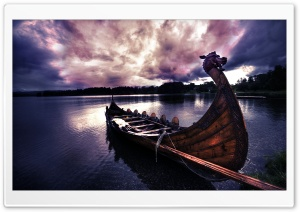 Viking's Boat HD Wide Wallpaper for Widescreen