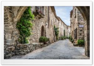 Vilanova Street Monells, Catalonia HD Wide Wallpaper for Widescreen