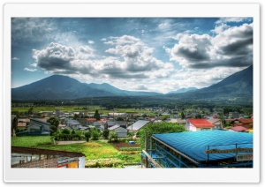Village HDR HD Wide Wallpaper for Widescreen