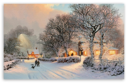 Village In Winter Painting HD wallpaper for Wide 16:10 5:3 Widescreen WHXGA WQXGA WUXGA WXGA WGA ; HD 16:9 High Definition WQHD QWXGA 1080p 900p 720p QHD nHD ; Standard 4:3 5:4 3:2 Fullscreen UXGA XGA SVGA QSXGA SXGA DVGA HVGA HQVGA devices ( Apple PowerBook G4 iPhone 4 3G 3GS iPod Touch ) ; Tablet 1:1 ; iPad 1/2/Mini ; Mobile 4:3 5:3 3:2 16:9 5:4 - UXGA XGA SVGA WGA DVGA HVGA HQVGA devices ( Apple PowerBook G4 iPhone 4 3G 3GS iPod Touch ) WQHD QWXGA 1080p 900p 720p QHD nHD QSXGA SXGA ;