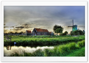 Village Outskirts HDR HD Wide Wallpaper for Widescreen