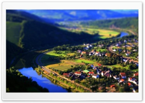 Village Tilt Shift HD Wide Wallpaper for Widescreen