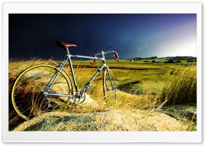 Vintage Bicycle in the Storm HD Wide Wallpaper for Widescreen