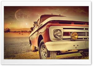 Vintage Car Front HD Wide Wallpaper for Widescreen