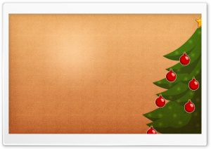 Vintage Christmas Tree HD Wide Wallpaper for Widescreen