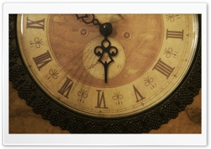 Vintage Clock HD Wide Wallpaper for Widescreen