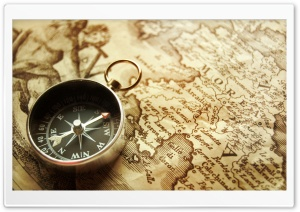 Vintage Compass HD Wide Wallpaper for 4K UHD Widescreen desktop & smartphone