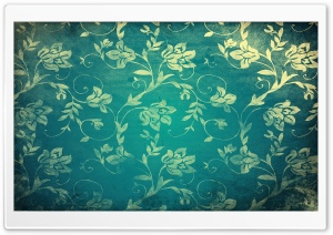 Vintage Floral Wall HD Wide Wallpaper for Widescreen