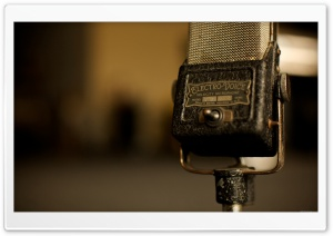 Vintage Microphone HD Wide Wallpaper for Widescreen