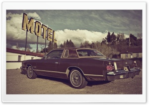 Vintage Motel HD Wide Wallpaper for Widescreen