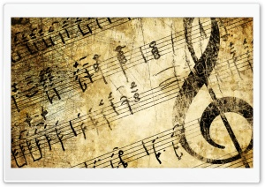 Vintage Music Sheets HD Wide Wallpaper for Widescreen