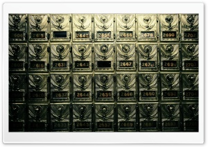 Vintage Post Office Boxes HD Wide Wallpaper for Widescreen