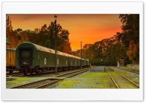 Vintage Train Station HD Wide Wallpaper for 4K UHD Widescreen desktop & smartphone