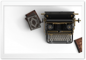 Vintage Typewriter Aesthetic Ultra HD Wallpaper for 4K UHD Widescreen desktop, tablet & smartphone