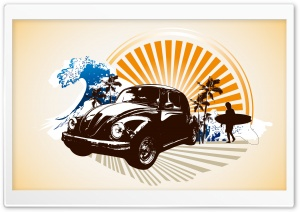 Vintage Volkswagen Beetle HD Wide Wallpaper for Widescreen