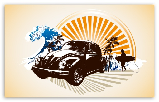 Vintage Volkswagen Beetle HD wallpaper for Standard 4:3 5:4 Fullscreen ...