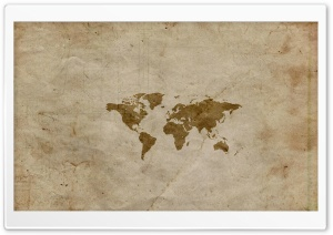 Vintage World Map HD Wide Wallpaper for Widescreen