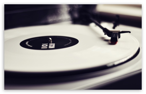 Vinyl Record Player Black And White HD wallpaper for Wide 16:10 5:3