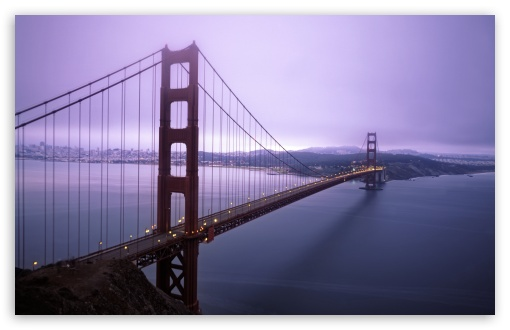 Violet Hour And Fog Surround The Golden Gate HD wallpaper for Standard 4:3 5:4 Fullscreen UXGA XGA SVGA QSXGA SXGA ; Wide 16:10 5:3 Widescreen WHXGA WQXGA WUXGA WXGA WGA ; HD 16:9 High Definition WQHD QWXGA 1080p 900p 720p QHD nHD ; Other 3:2 DVGA HVGA HQVGA devices ( Apple PowerBook G4 iPhone 4 3G 3GS iPod Touch ) ; Mobile VGA WVGA iPhone iPad PSP Phone - VGA QVGA Smartphone ( PocketPC GPS iPod Zune BlackBerry HTC Samsung LG Nokia Eten Asus ) WVGA WQVGA Smartphone ( HTC Samsung Sony Ericsson LG Vertu MIO ) HVGA Smartphone ( Apple iPhone iPod BlackBerry HTC Samsung Nokia ) Sony PSP Zune HD Zen ; Tablet 2 Android 3 DVGA HVGA HQVGA devices ( Apple PowerBook G4 iPhone 4 3G 3GS iPod Touch ) ; Dual 4:3 5:4 16:10 5:3 16:9 UXGA XGA SVGA QSXGA SXGA WHXGA WQXGA WUXGA WXGA WGA WQHD QWXGA 1080p 900p 720p QHD nHD ;