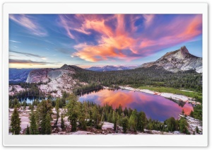 Violet Lake Dawn HD Wide Wallpaper for Widescreen