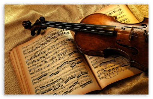 Violin And Notes HD wallpaper for Wide 16:10 5:3 Widescreen WHXGA WQXGA WUXGA WXGA WGA ; HD 16:9 High Definition WQHD QWXGA 1080p 900p 720p QHD nHD ; Standard 3:2 Fullscreen DVGA HVGA HQVGA devices ( Apple PowerBook G4 iPhone 4 3G 3GS iPod Touch ) ; Mobile 5:3 3:2 16:9 - WGA DVGA HVGA HQVGA devices ( Apple PowerBook G4 iPhone 4 3G 3GS iPod Touch ) WQHD QWXGA 1080p 900p 720p QHD nHD ;