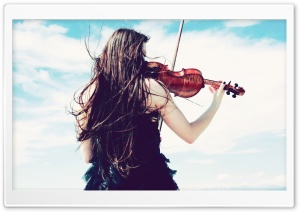 Violinist Girl HD Wide Wallpaper for Widescreen