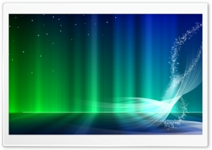 Vista Blue And Green Aurora HD Wide Wallpaper for Widescreen