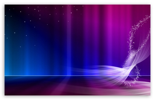 Vista Blue And Purple Aurora 4k Hd Desktop Wallpaper For