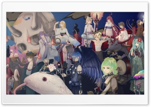 Vocaloid Mosaic Roll HD Wide Wallpaper for Widescreen