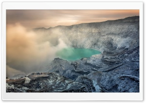 Volcanic Crater HD Wide Wallpaper for Widescreen