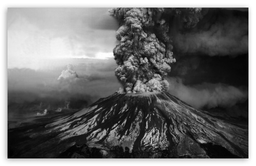 Download volcanic eruption hd wallpaper