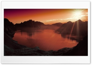 Volcanic Lake HD Wide Wallpaper for Widescreen